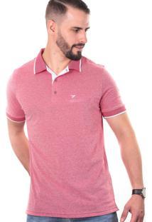 Camisa Polo Cp0710 Slim Traymon Vermelho