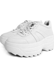 Tênis Damannu Shoes Chunky Donna Feminino - Feminino-Branco