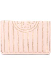 Tory Burch Carteira 'Fleming' Com Tachas - Rosa