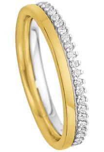 Aliança De Casamento Ouro Amarelo Ouro Branco E Diamantes