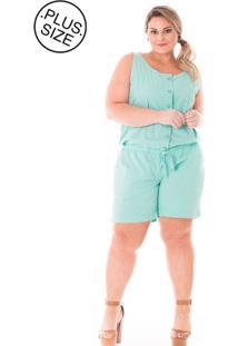 Macacão Plus Size - Confidencial Extra De Sarja Color