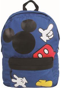 Mochila De Costa Dermiwil Mickey Azul