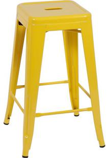 Jogo De Banquetas Retrô- Amarelo- 2Pçs- Or Desigor Design