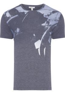 Camiseta Masculina Devore Flores - Cinza