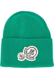 Moncler Gorro Com Patch De Logo - Verde