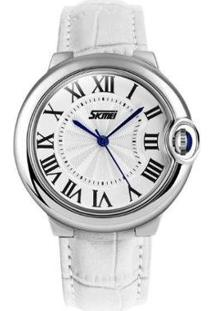 Relógio Skmei Analógico Feminino - Feminino-Branco
