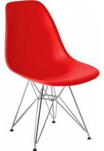 Cadeira Com Encosto Polipropileno Flórida Siena Móveis Vermelho
