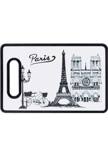 Tábua De Corte Paris 20X30Cm Preta E Branca