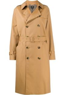 A.P.C. Greta Double-Breasted Trench Coat - Marrom
