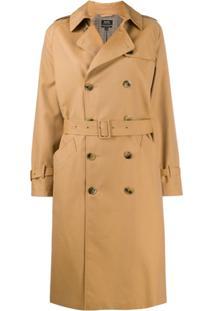 A.P.C. Trench Coat Greta Com Abotoamento Duplo - Marrom