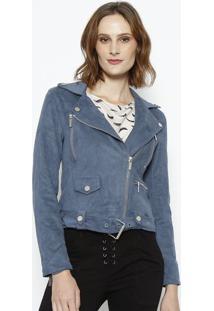 Jaqueta Debora Em Suede - Azul Escuro - Le Lis Blancle Lis Blanc