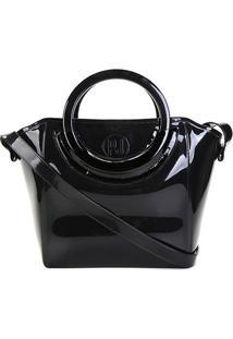 Bolsa Shoulder Petite Jolie Shape Bag Express Feminina - Feminino-Preto