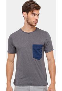Camiseta Tigs Bolso Mini Print Masculina - Masculino
