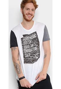 Camiseta Triton Good Music Tricolor Masculina - Masculino-Branco