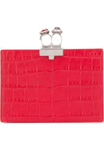 Alexander Mcqueen Jewelled Two-Ring Clutch - Vermelho