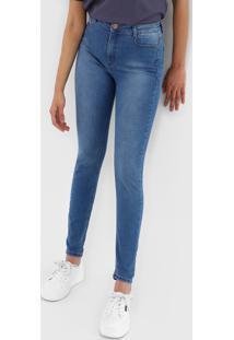 Calã§A Jeans Dzarm Skinny Estonada Azul - Azul - Feminino - Algodã£O - Dafiti
