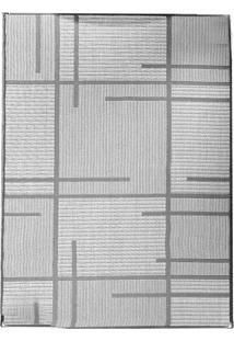 Tapete Sisllê Geométrico V Retangular Polipropileno (50X80) Preto E Cinza