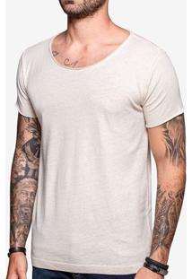 Camiseta Gola Canoa Linho 103549