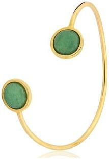Pulseira Toque De Joia Bracelete Fio Dois Círculos - Feminino-Dourado