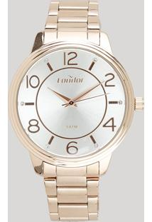 Relógio Analógico Condor Feminino - Co2035Kvl4K Rosê - Único
