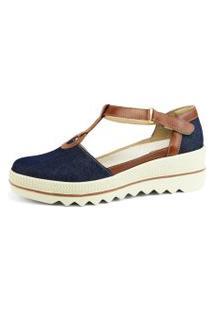 Sandália R.Artigos Miuzzi Retro Jeans Azul Marinho