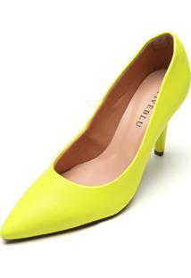 Scarpin Fiveblu Neon Amarelo