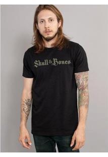 Camiseta Bandup! Skull & Bones Logo - Masculino-Preto