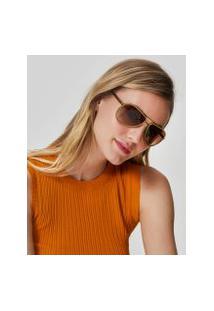 Amaro Feminino Óculos De Sol Aviador Detalhe Colors, Verde