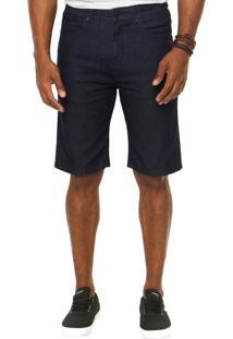 Bermuda Jeans Quiksilver Bolso Azul