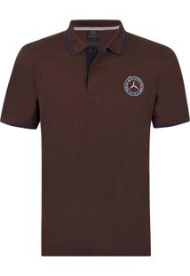 Camisa Polo Mercedes Benz Collection Roadster Classic Marrom