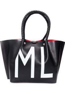Bolsa Feminina Shopping Bag Anml - Preto