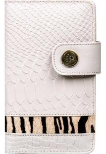 Carteira Animal Print - Feminino-Off White