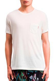 Camiseta Salt35G Pocket Rus Areia Bege