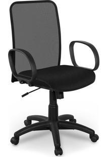 Cadeira Diretor Tela Master Preta Braã§O - Preto - Dafiti