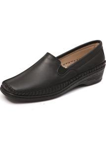 Sapato Conforto Mager Cor Preto
