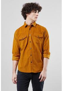 Camisa Western Reserva Cotele Inv17 Masculina - Masculino-Bege