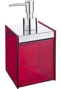 Porta Sabonete Líquido Quadrata Vermelho 1983009 Brinox