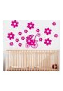 Adesivo De Parede Cartelas Infantil Carrinho De Bebê 2 - P 40X50Cm