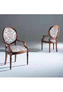 Cadeira Com Braço Ellos Madeira Maciça Design Clássico Avi Móveis