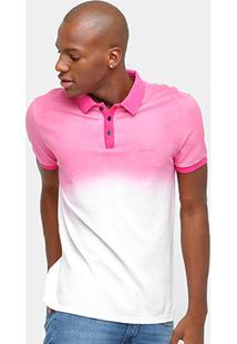 Camisa Polo Calvin Klein Piquet Degradê Color Masculina - Masculino-Pink