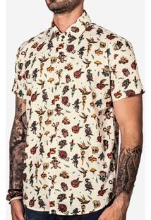 Camisa Hermoso Compadre Tattoo Masculina - Masculino