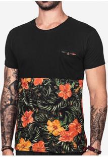 Camiseta Hermoso Compadre Estampada Bolso Masculina - Masculino