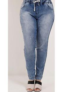 Calça Jeans Plus Size Feminina Amuage Azul