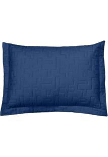 Porta Travesseiro Reffinata- Azul Marinho- 70X50Cm