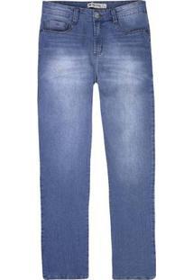 Calça Jeans Slim Masculina Em Algodão Com Lavação