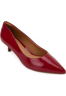 Scarpin Salto Baixo Bebecê Bc20-T3415 - Feminino-Vermelho