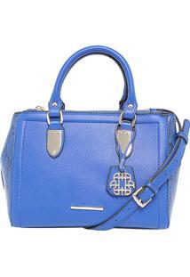 Bolsa Ana Hickmann Handbag Cobra Azul