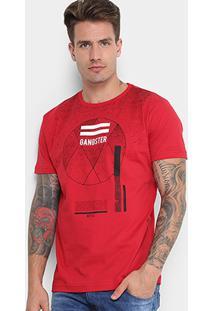 Camiseta Gangster Respingos Geométrico Masculina - Masculino