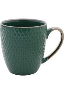 Caneca De Porcelana Thaya Verde 400Ml