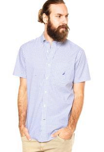 Camisa Nautica Quadros Azul
